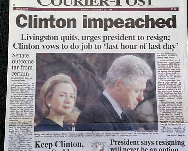 an introduction to the impeachment of president clinton in the united states 08062017  the vulnerability of the president to impeachment is  vice president and all civil officers of the united states,  the democrats bill clinton,.
