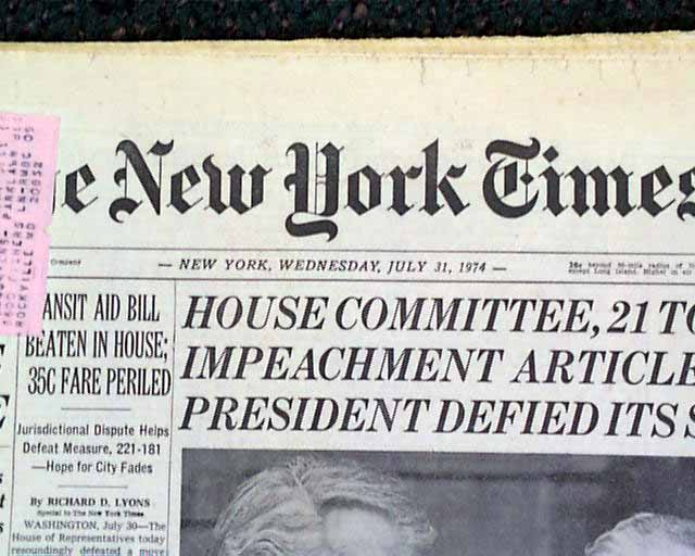 Impeachment Of Nixon President Nixon Impeac...