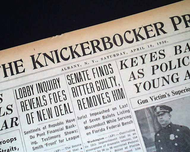 Gangster Charles Lucky Luciano Arrested 1936 Newspaper On Popscreen