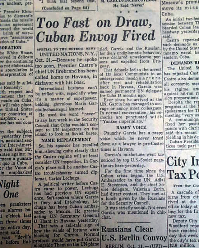 thesis cuban missile crissi Read this american history research paper and over 88,000 other research documents cuban missile crisis the cuban missile crisis the closest the world ever came to.