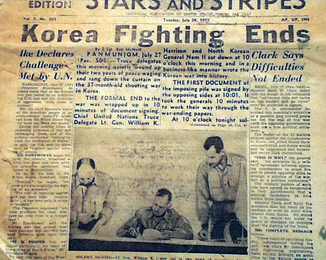 korean war conclusion This week (july 27) in 1953, the korean war between the us-backed government of south korea and the communist china-backed government (and, clandestinely, the soviet union) of north korea finally came to an end.