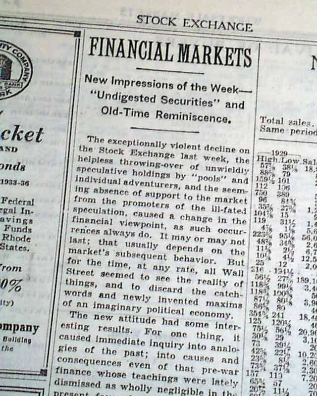 analysis of recent stock market crash The great crash: how the stock market crash of 1929 plunged the world into   this is the story of the financial cataclysm that started with the wall street stock  market crash of 1929  galbraith follows the new channel analysis approach,  where market swings  i've just read this book for the third time in the last 30  years.