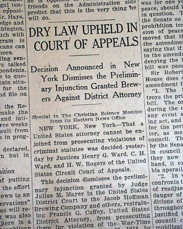 an overview of the effects of prohibition in the united states The prohibition era temperance movements had swept through portions of the united states throughout the 19th century the act took effect on june 30.