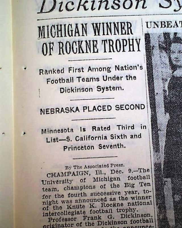 MICHIGAN Wolverines Declared College FOOTBALL National ...