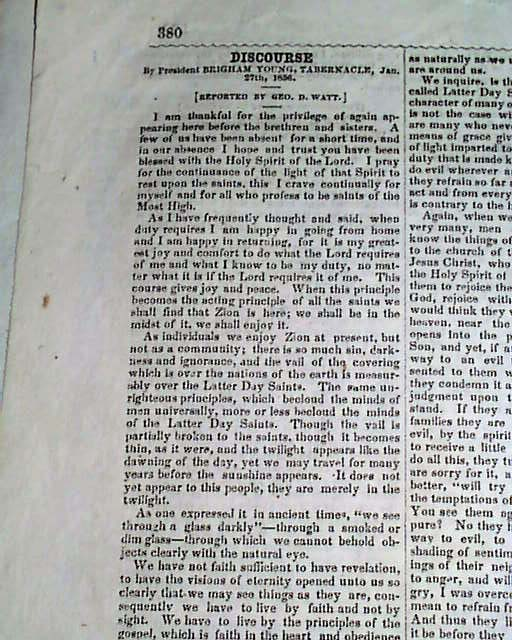 1876 Old West Newspaper From SALT LAKE CITY UT ...