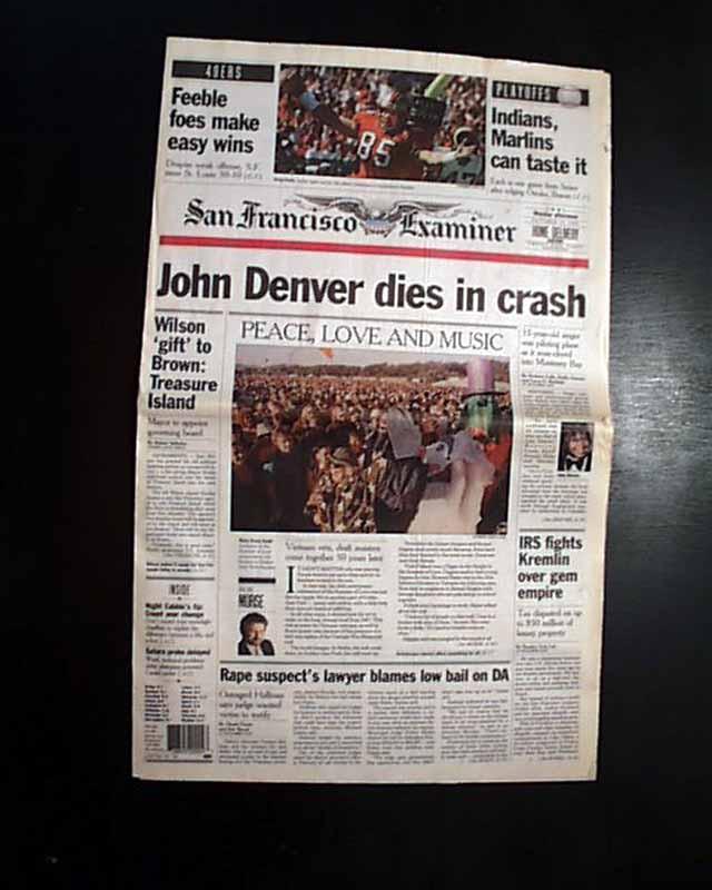 Denver Newspaper: JOHN DENVER American Singer-Songwriter Activist KILLED