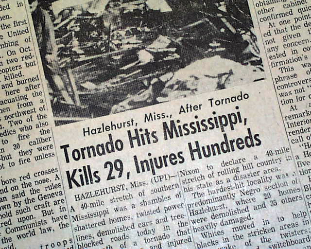 hazlehurst mississippi tornado rarenewspaperscom