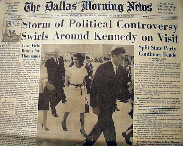 The newspaper rarely saved… | History's Newsstand Blog on cape kennedy florida on map, texas sea level map, kennedy parade route dallas, jfk dallas texas map, kennedy assassination map,